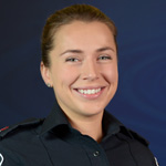 Media officer Constable Iryna Yashnyk