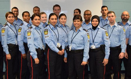 Group of Auxiliary Officers posing for camera